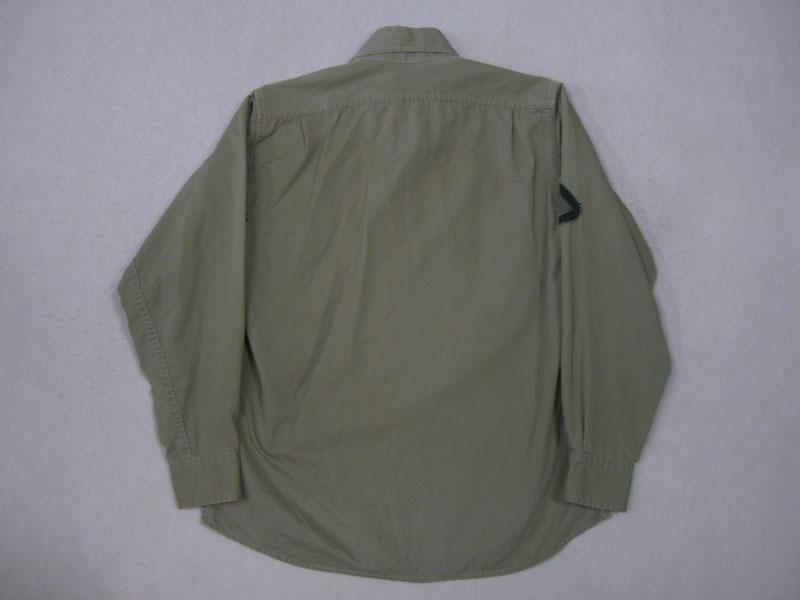 画像2: 50's US ARMY シャツ/尿素ボタン/S