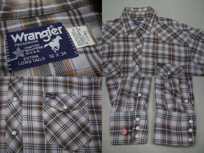画像3: 80's USA製 Wrangler ネルウエスタンシャツ/ML
